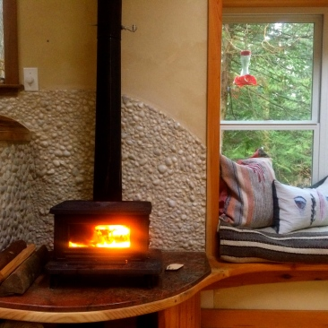 Little cod wood stove - toasty warm!