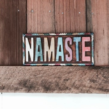 Namaste above the door
