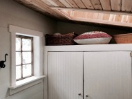 Cedar T&G on ceiling, painted pine for the doors